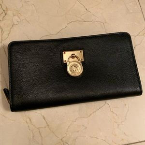 """Michael Kors Black """"Lock"""" Wallet"""